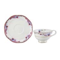 Filiżanka różowo-biała  250ml English Collection
