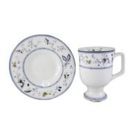 Filiżanka cappucino Niebieskie Kwiatki 400ml English Collection