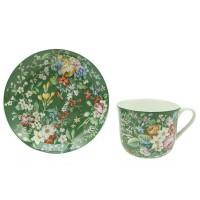 Filiżanka Zielona Kwiaty  370ml English Collection