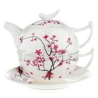 Tea for one Kwiat Wiśni zestaw filiżanka 250ml z dzbankiem Tea Logic