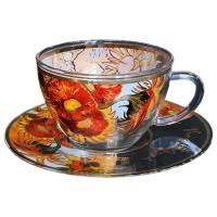 Filiżanka szklana Słoneczniki 250ml Van Gogh Carmani
