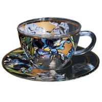 Filiżanka szklana Irysy 250ml Van Gogh Carmani