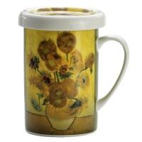 Kubek z zaparzaczem Słoneczniki Van Gogh 350ml English Collection
