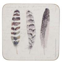 Podkładki Piórka 10,5 x 10,5 cm, 6 szt. Creative Tops