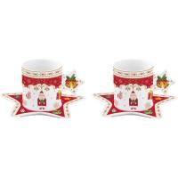 Filiżanki Christmas Ornaments 80 ml 2 szt. Easy Life