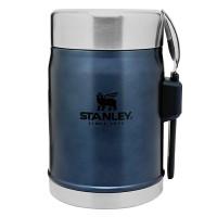 Termos obiadowy ze sztućcem stalowy  Classic granatowy 0,4l Stanley