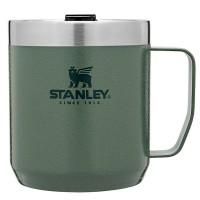 Kubek kempingowy z pokrywką stalowy  Classic zielony 0,35l Stanley