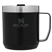 Kubek kempingowy z pokrywką stalowy  Classic czarny 0,35l Stanley