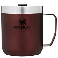 Kubek kempingowy z pokrywką stalowy  Classic bordowy 0,35l Stanley