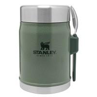 Termos obiadowy ze sztućcem stalowy  Classic zielony 0,4l Stanley