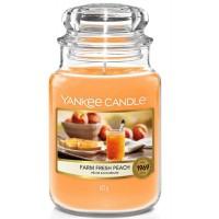 Świeca duża Farm Fresh Peach Yankee Candle