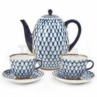 Zestaw kawowy dla dwojga Siatka Kobaltowa Łomonosov