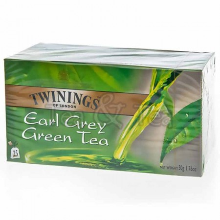 Herbata w saszetkach Earl Grey Green Tea 25 szt Twinings