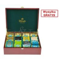 Skrzynka drewniana z herbatami 12 smaków Dilmah