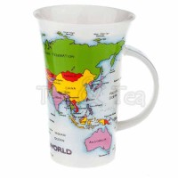 Kubek Glencoe Map of the World 500ml Dunoon