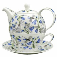 Tea for one Dovedale Harebell zestaw filiżanka 250ml z dzbankiem Dunoon