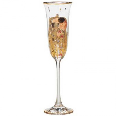 Kieliszek do szampana Pocałunek Gustaw Klimt Goebel