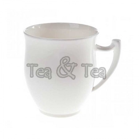 Kubek Epsilon pękaty biały 350ml Tea Logic