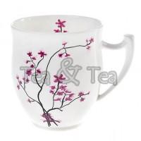 Kubek Kwiat Wiśni pękaty 320ml Tea Logic