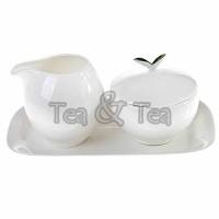 Komplet Tea Time mlecznik i cukiernica biały Tea Logic