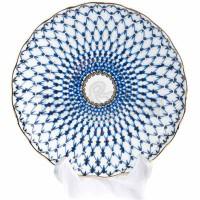 Półmisek okrągły Siatka Kobaltowa 22 cm Łomonosov